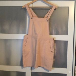 NWT pink Denim skirt overalls
